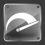 Glass Tachometer icon Royalty Free Stock Photos