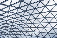 Glass tak av en modern byggnad Arkivbilder