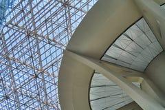 Glass tak av flygplatsen Arkivfoton