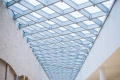 Glass tak av gallerian Fotografering för Bildbyråer