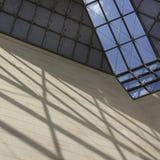 Glass tak av MUDAM-museet i Luxembourg 6 Arkivfoton