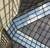 Glass tak av MUDAM-museet i Luxembourg 3 Arkivfoto