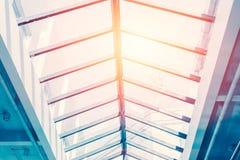 Glass tak för tak, ecobyggnad Arkivbilder
