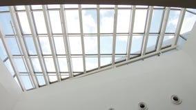 Glass tak i gallerian lager videofilmer