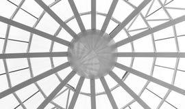 Glass tak och fönster i modern kontorsbyggnad Fotografering för Bildbyråer