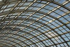 glass takstålstruktur Arkivbild
