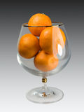 glass tangerines Arkivfoto