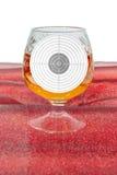 Glass target Royalty Free Stock Photos