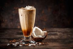 Coconut flavored coffee stock photos