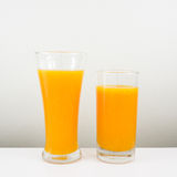 The glass of tasty pure orange juice Stock Images