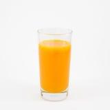 The glass of tasty pure orange juice Royalty Free Stock Image
