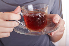 A glass with tea Stock Photography