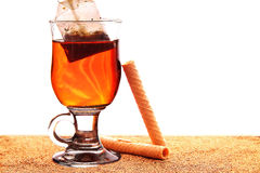 Glass of tea Stock Images