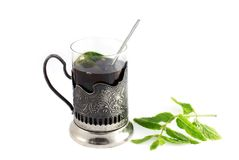 glass tea arkivfoto