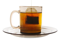 Glass of Tea with Bag End stock photo