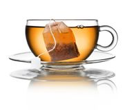 Glass Tea Cup Bag Stock Images