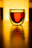 A glass of tea or a drink on the table.  Royalty Free Stock Image