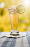 Glass with tea  and lemon Royalty Free Stock Image