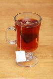 Glass Tea Mug With Bag Stock Image