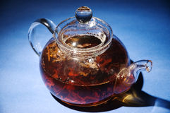 Glass tea pot Royalty Free Stock Photos