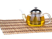Glass tea pot Royalty Free Stock Photo