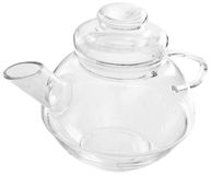 The glass tea-pot with a lid Stock Photography
