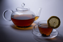 Glass tea set Stock Images
