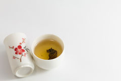 Glass tea set. Royalty Free Stock Image