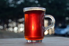 Tea at Sunset Stock Image