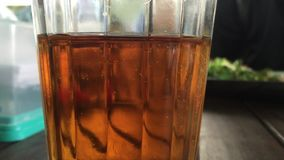 Glass of tea stock video footage