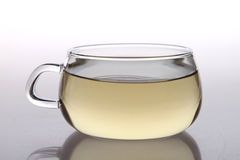 Glass teacup. Chinese glass teacup  in home backgroud Stock Photo