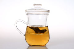 Glass teapot. The chinese glass teapot in white backgroud Royalty Free Stock Photo