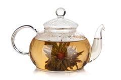 Glass teapot of aroma tea Stock Image