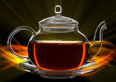Glass teapot Stock Photography