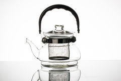 Glass teapot. Stock Image