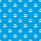 Glass teapot pattern seamless blue Stock Photography