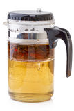 Glass teapot with tea Stock Image