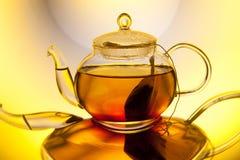 Glass teapot with tea Stock Image