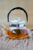 Glass teapot Stock Image