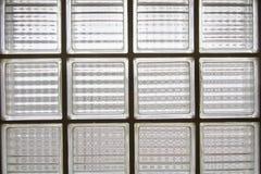 Glass tegelstenvägg Royaltyfria Foton