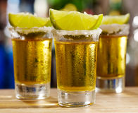 Glass of tequila Stock Image