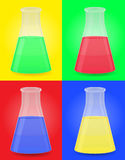 Glass test tube with color liquid vector illustrat Royalty Free Stock Photo