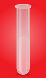 Glass test tube vector illustration Royalty Free Stock Image
