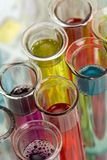 Glass test tubes Royalty Free Stock Photos