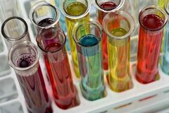 Glass test tubes Royalty Free Stock Image