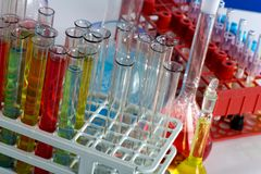 Glass test tubes Royalty Free Stock Photo