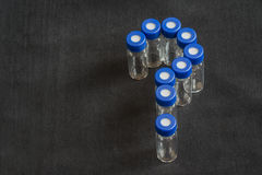Glass test tubes or containers Royalty Free Stock Photo