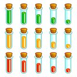 Glass test tubes game progress bar Stock Photo