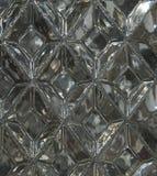 Glass textur med en modell av romber Klar glass diamantform Royaltyfri Bild