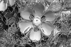 Glass texture black and white for background Royalty Free Stock Images